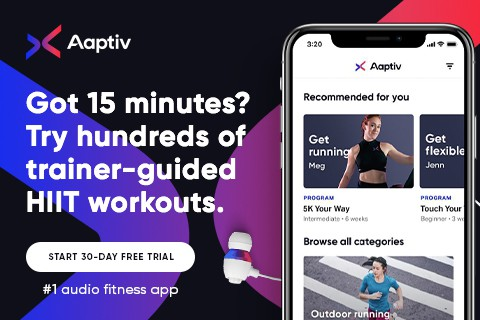 Affiliate link for Aaptiv fitness app HIIT workouts