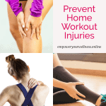 pinterest pin for helpful hints to prevent home workout injuries