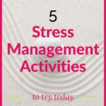 pinterest pin picture of zen garden stress management activities