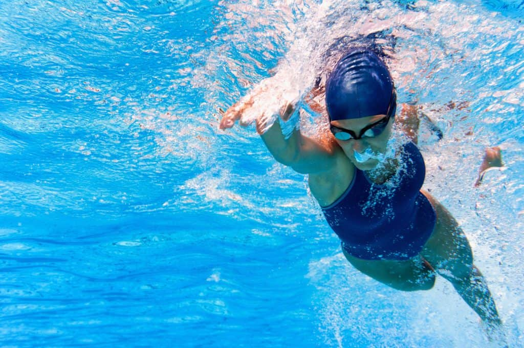 swimmer doing laps low impact workout