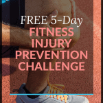 pinterest pin for fitness injury prevention challenge email course