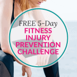pinterest pin for 5 day fitness injury prevention email course