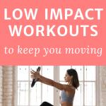 pinterest pin 18 low impact workouts