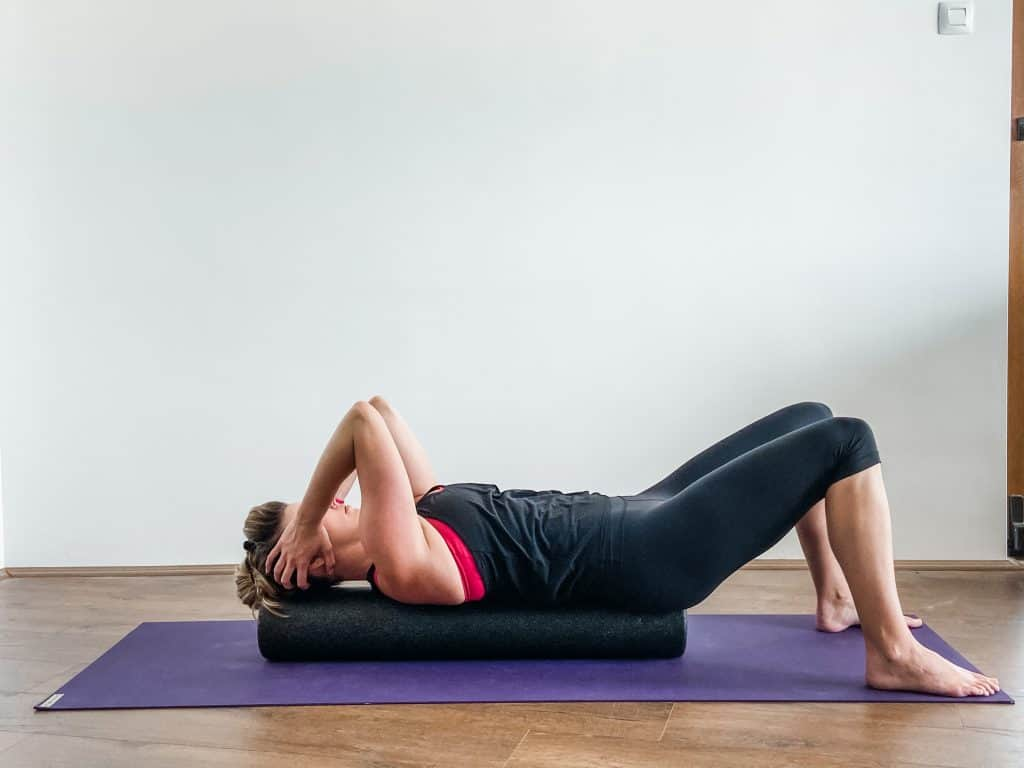 shoulder mobility on a foam roller